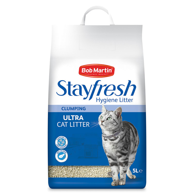image cat litter. Contemporary Image Bob Martin Stayfresh Ultra Clumping Cat Litter 5L To Image