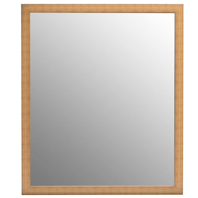 B m wood effect mirror 50 x 60cm 297388 for Miroir 50 x 60