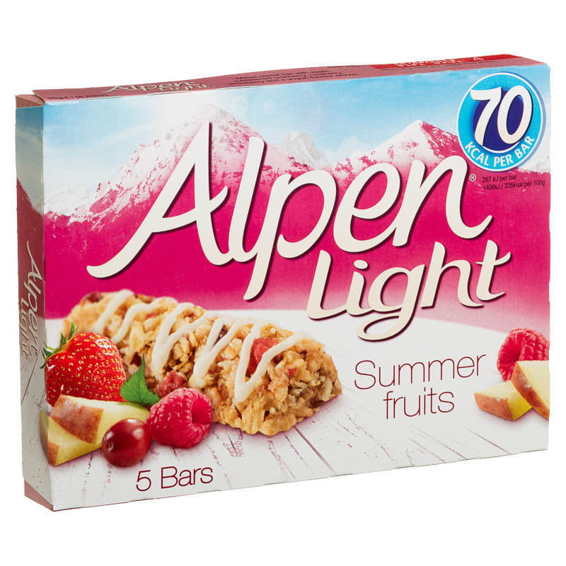 Alpen Light Summer Fruits 5pk Cereal Bars Snacks