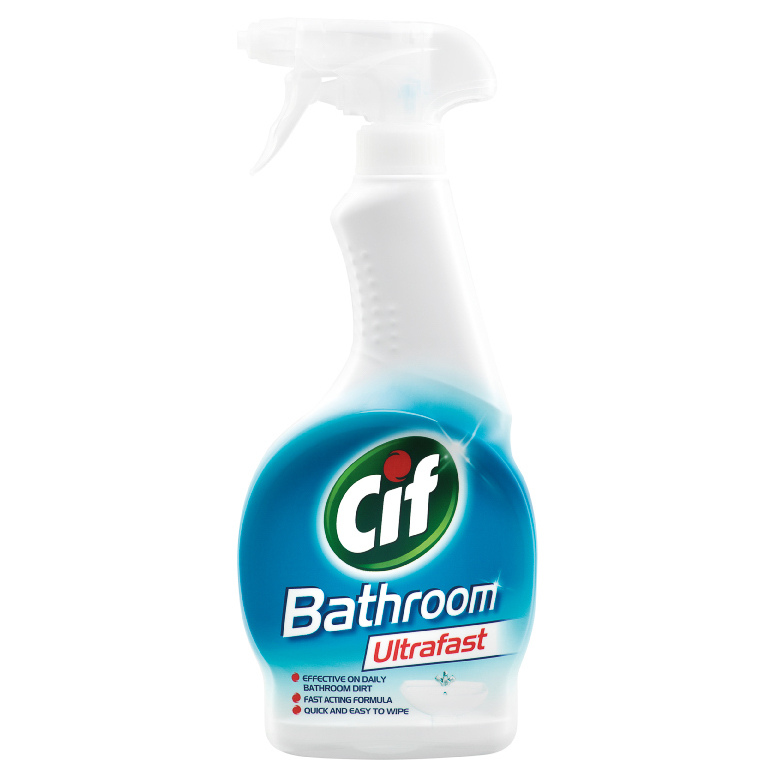 Home Bathroom Cleaner B M Cif Bathroom Cleaner Ultrafast 450ml 297469 B M