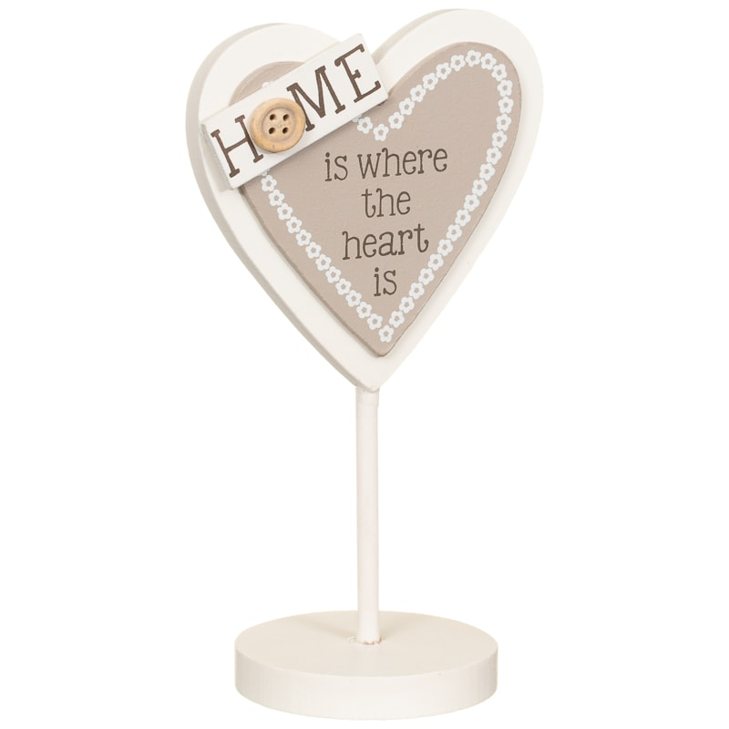 Heart Slogan Stand - Home is Where the Heart is