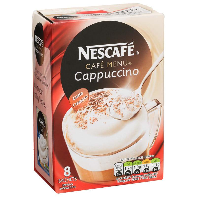 Nescafe Cafe Menu Cappuccino 8pk Coffee Nescafe