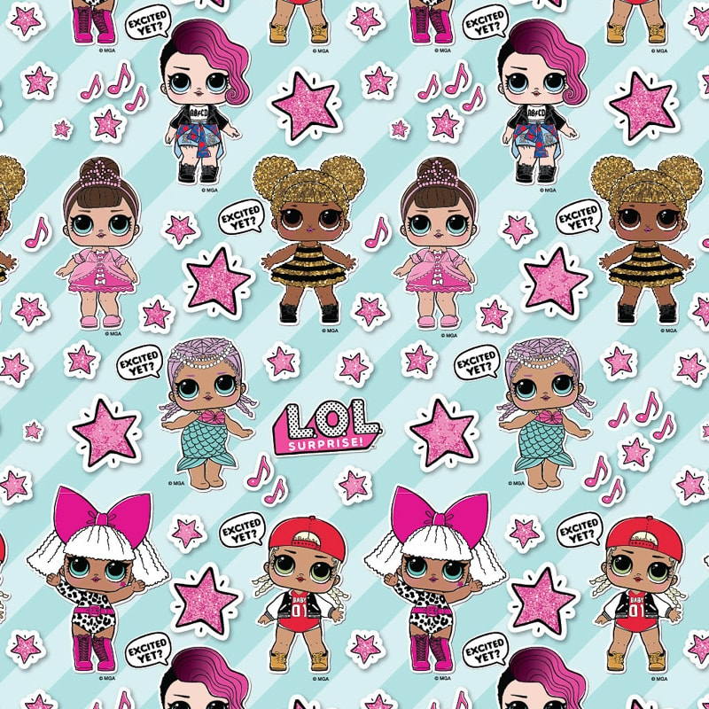 Lol Surprise Wrapping Paper 4m Gift Wrap B M