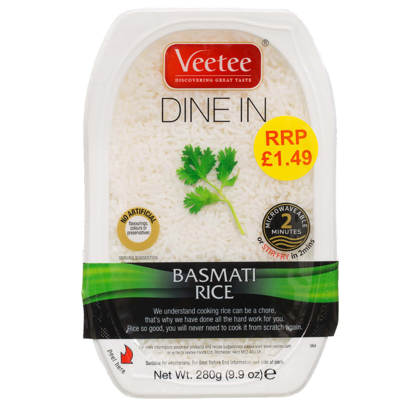 Veetee Dine In Basmati Rice 280g