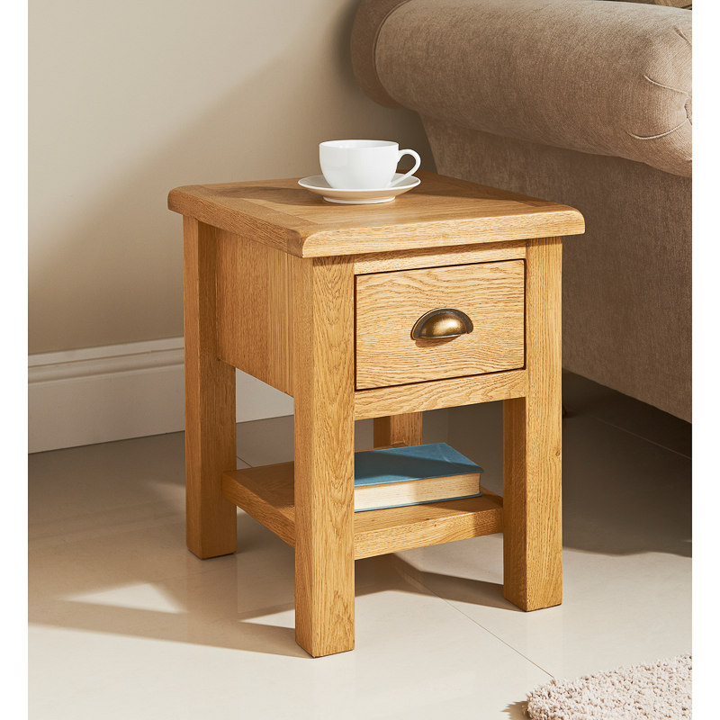 B M Rattan Coffee Table: B&M Wiltshire Oak Lamp Table - 319205