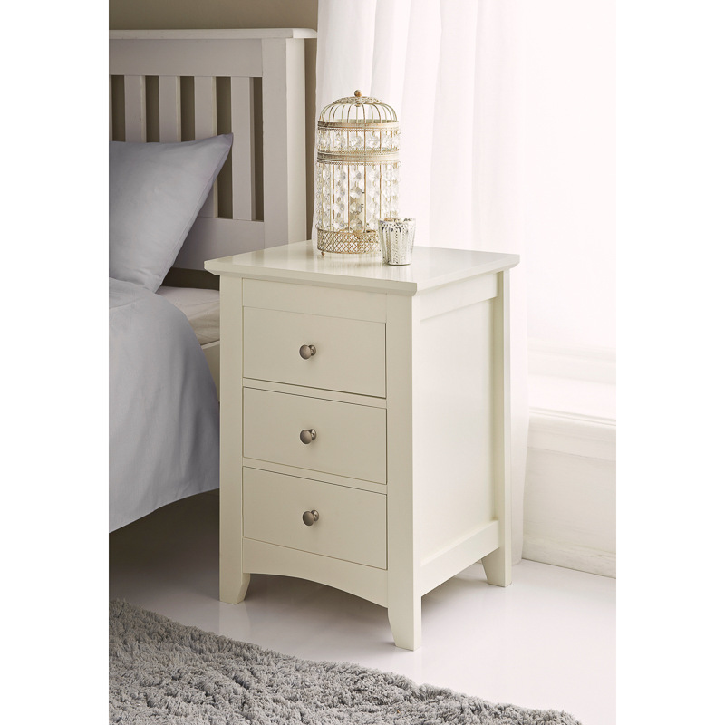 furniture furniture bedroom furniture carmen 3 drawer bedside cabinet