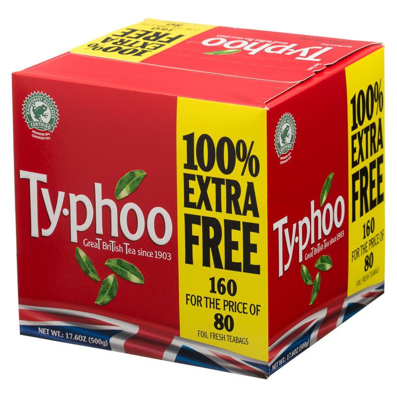 B Amp M Typhoo 80s 100 Free Teabags 298472 B Amp M