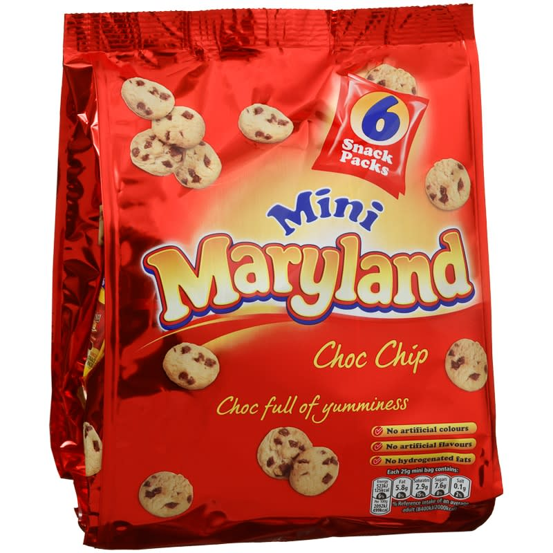 Mini Maryland Choc Chip Cookies Biscuits B Amp M