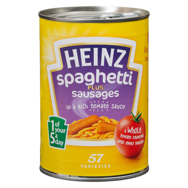 Heinz Spaghetti Plus Sausages 400g : Spaghetti, Groceries