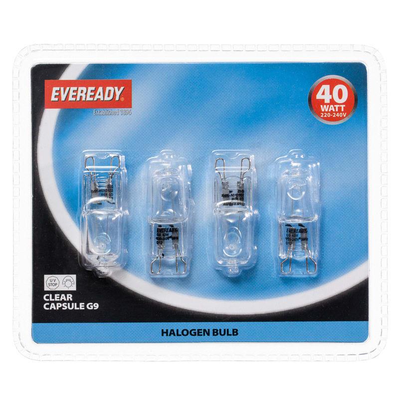 b m eveready halogen g9 40w capsule light bulbs 4pk 298808 b m. Black Bedroom Furniture Sets. Home Design Ideas