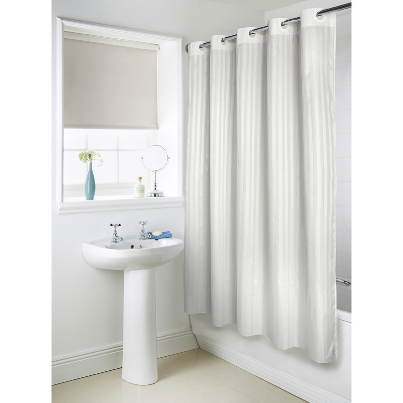 Hookless Jacquard Shower Curtain