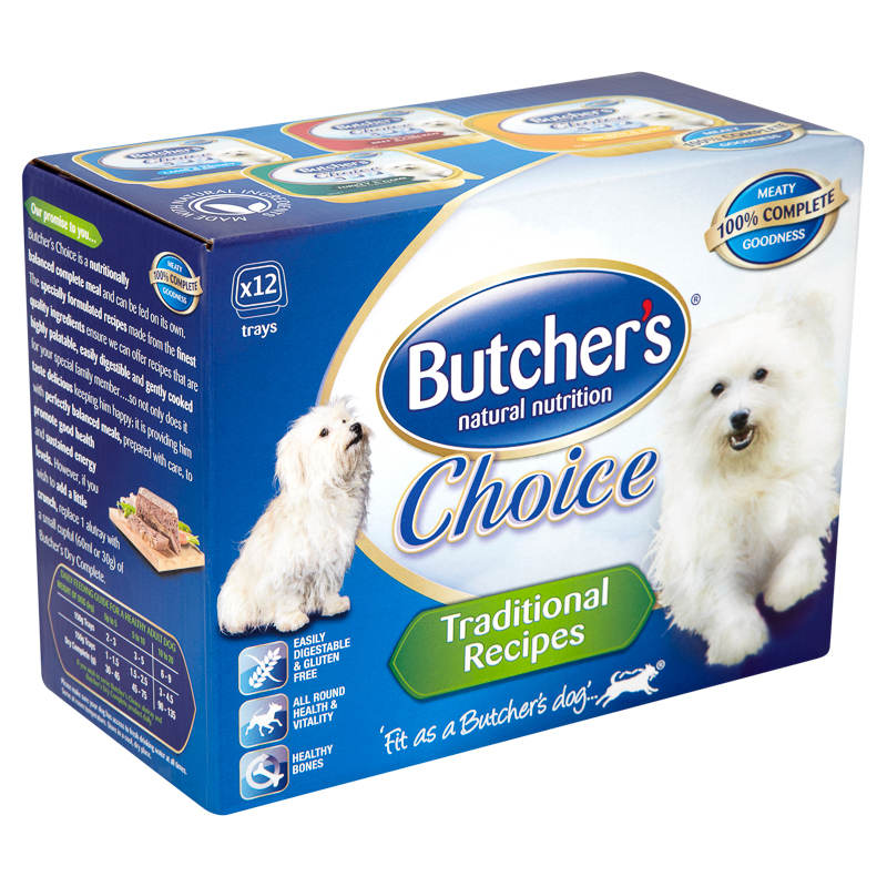 Butcher's Choice Dog Food Traditional Recipes 12 x 150g ...