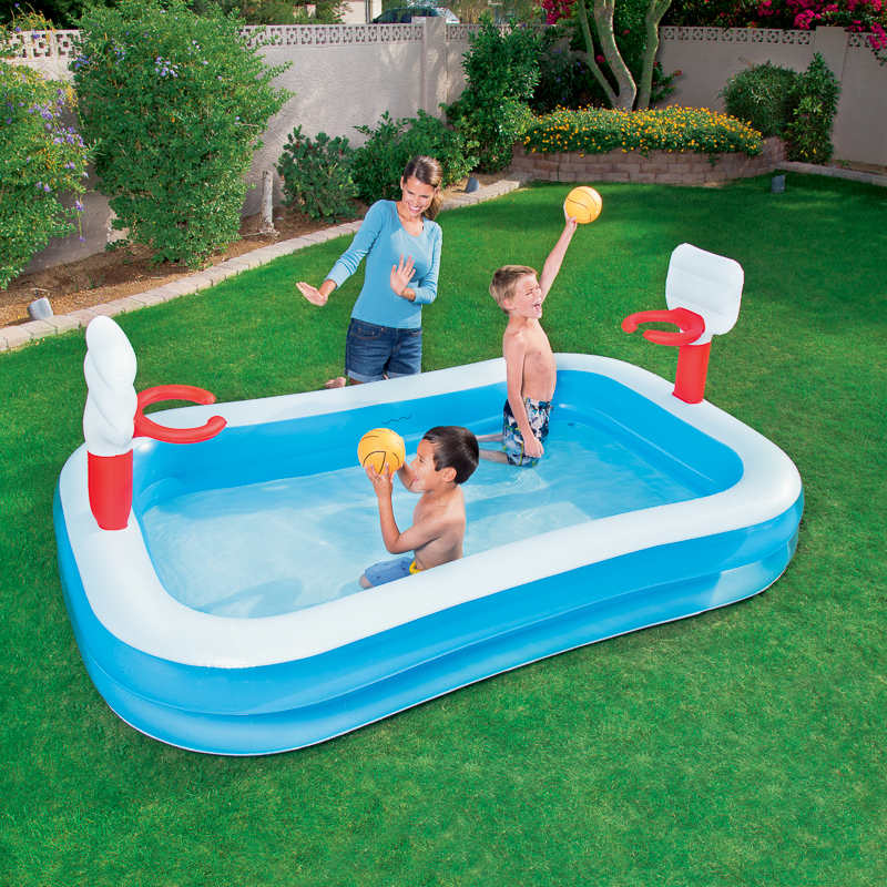 Bestway sports pool garden paddling pools for Pool design for volleyball