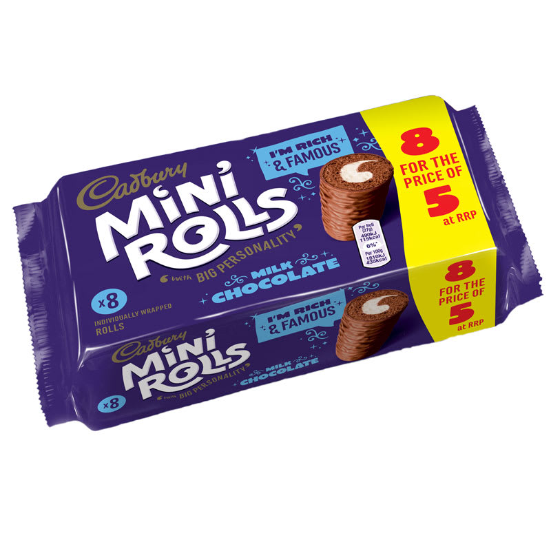 Cadbury Mini Rolls 8 pack