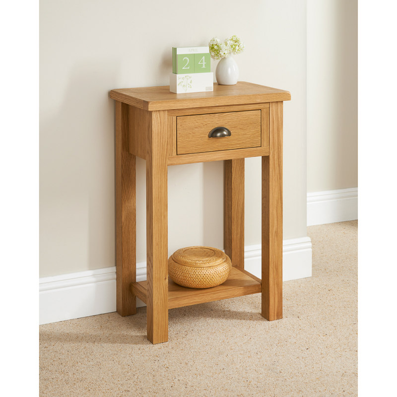 B m wiltshire small console table 319212 b m for Small console table with shelf