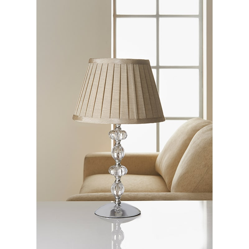 Georgia Glass Ball Table Lamp   Beige