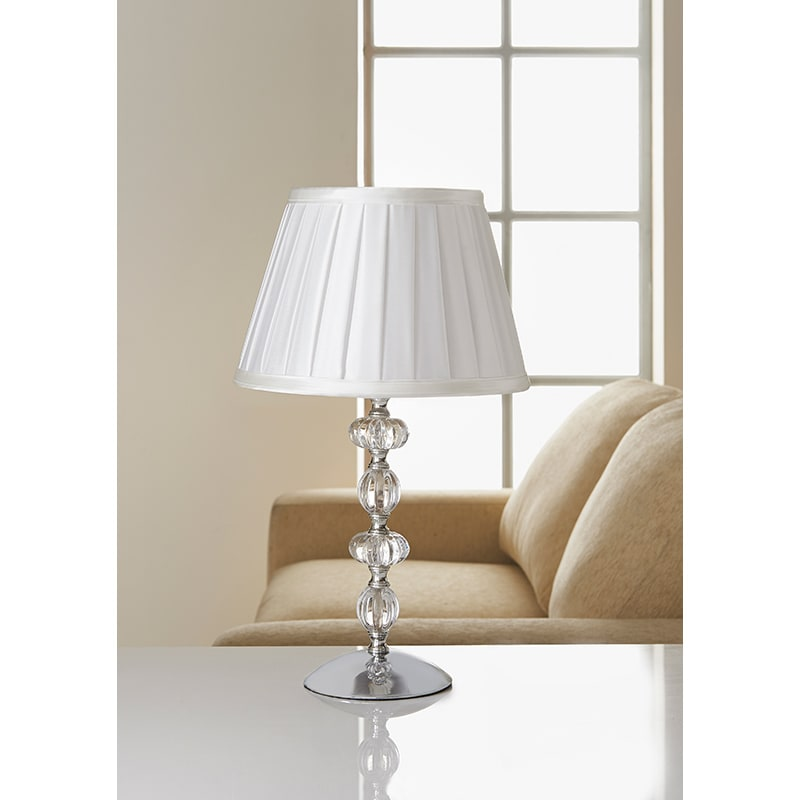 Georgia Glass Ball Table Lamp Cream Home Decor Lighting