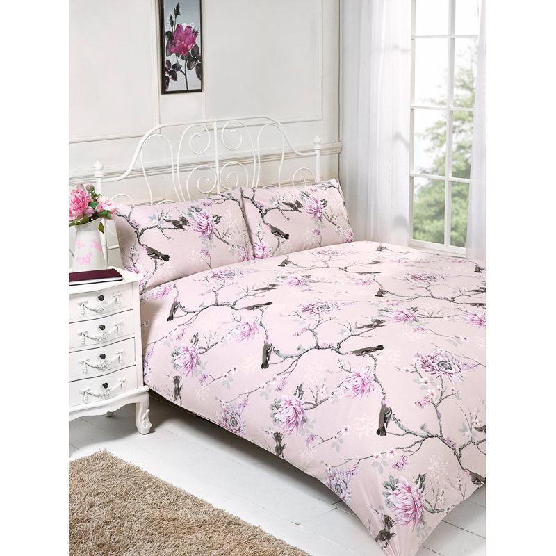 Floral Birds King Size Duvet Set Bedding Duvet Covers