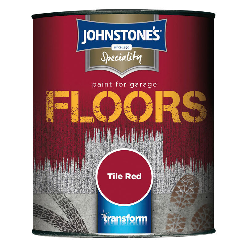 Johnstones Paint For Garage Floors Tile Red 750ml Diy