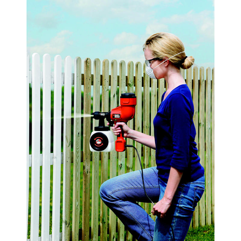 Black Amp Decker Paint Sprayer Fence Sprayer