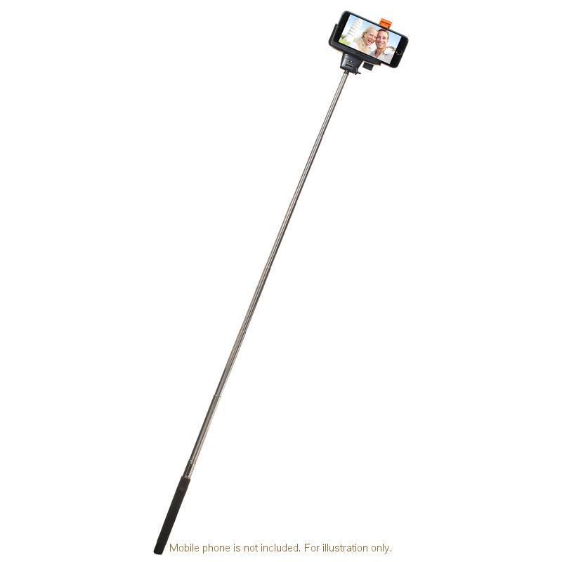 b m extendable bluetooth selfie stick 300302 b m. Black Bedroom Furniture Sets. Home Design Ideas