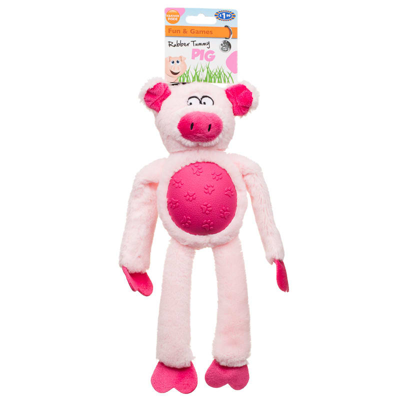 Farmyard Animals Dog Toys - Rubber Tummy Pig