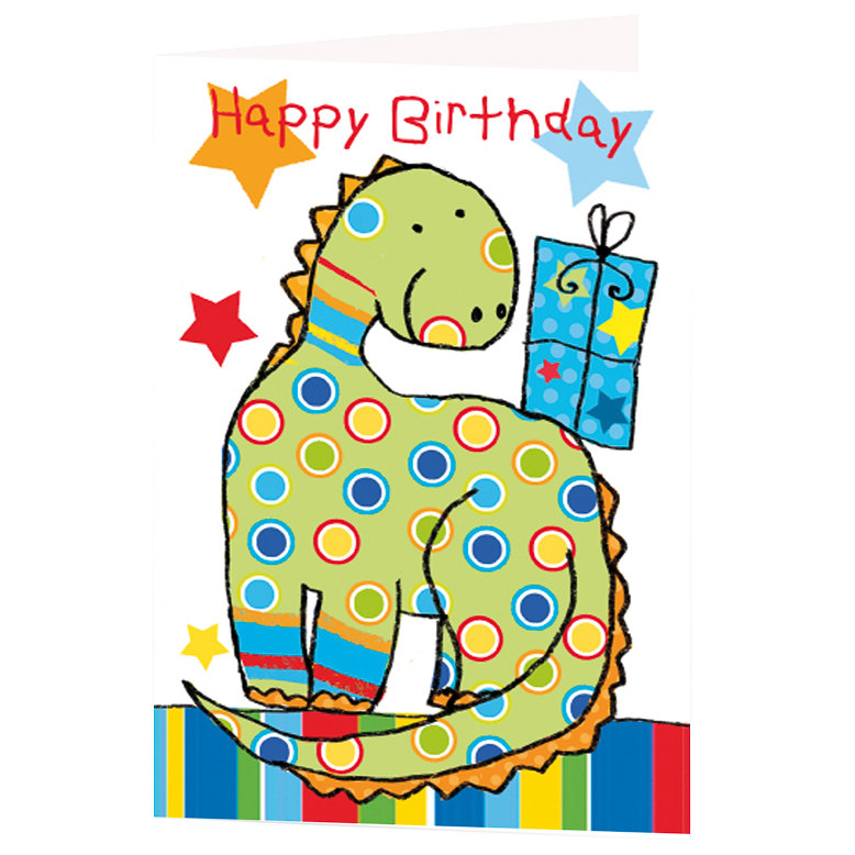 Dinosaur Birthday Card Greeting Cards