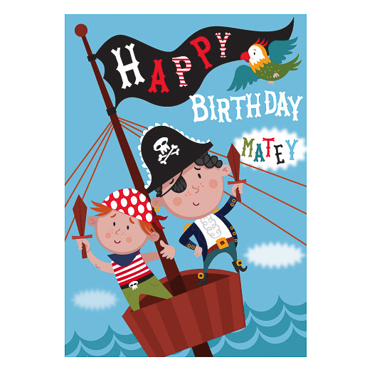 Pirates Birthday Card Greeting Cards