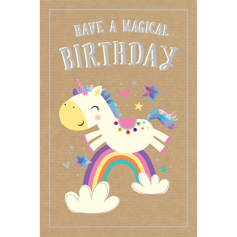 Happy Birthday Unicorn Birthday Card B Amp M