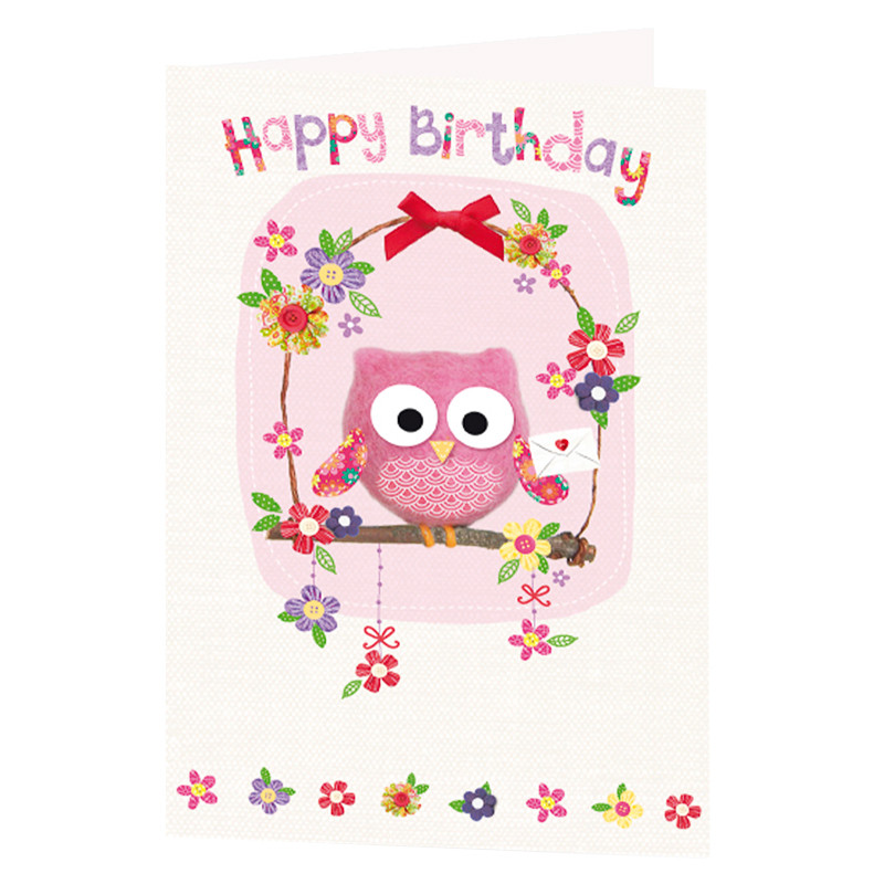 301165 Happy%20Birthday%20owl%20Greetings%20card