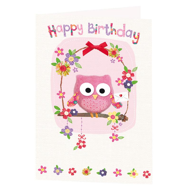 Owl Birthday Card Greeting Cards