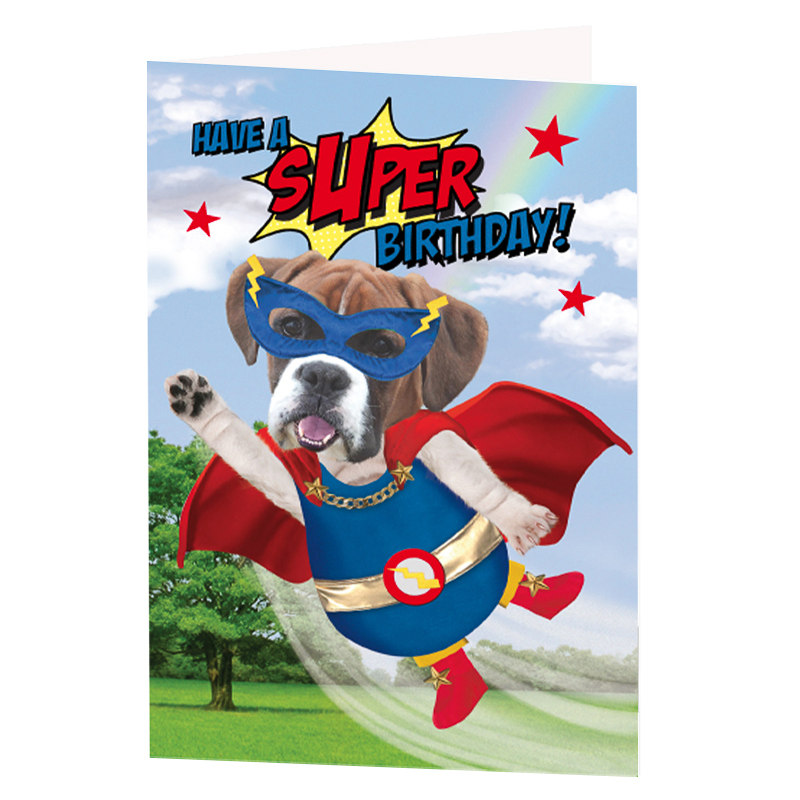 Super Dog Birthday Card Greeting Cards – Dog Birthday Card