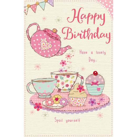 Happy Birthday Tea Party Birthday Cards Greeting Cards