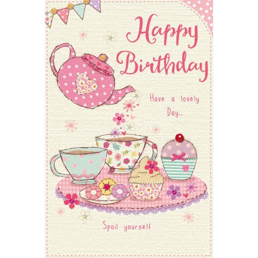Happy Birthday Tea Party Birthday Cards Greeting Cards