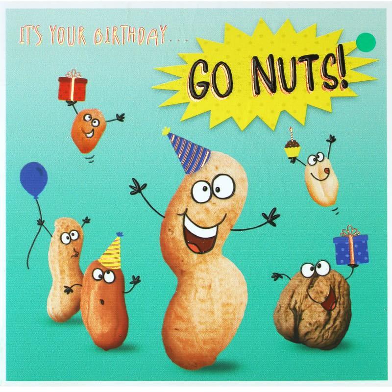 Go Nuts Birthday Card Cards B Amp M