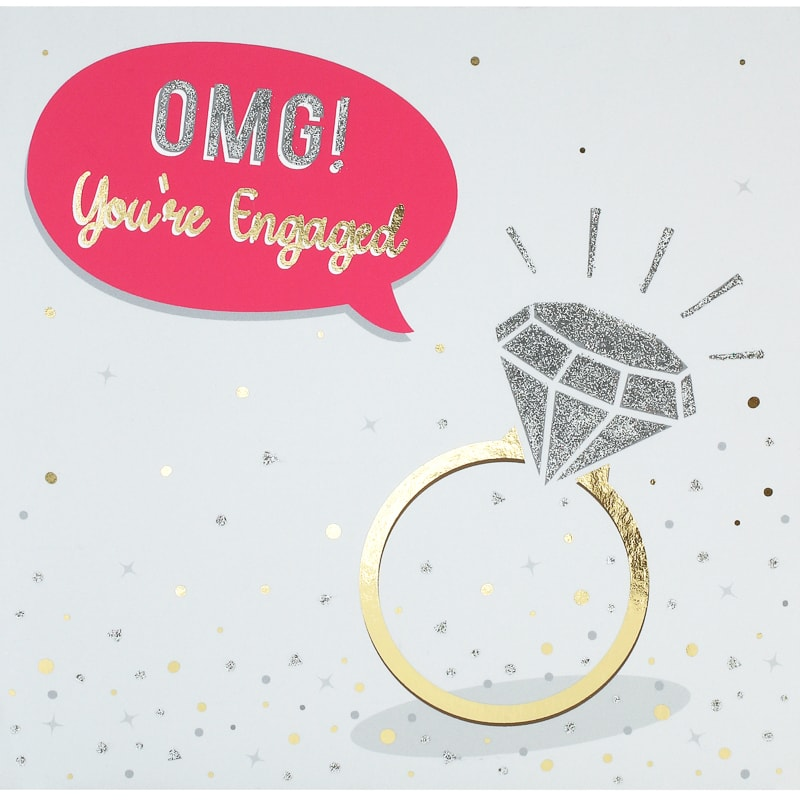 Omg! Diamond - Engagement Card