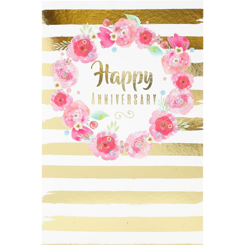 301168 Happy Anniversary Card Flowers