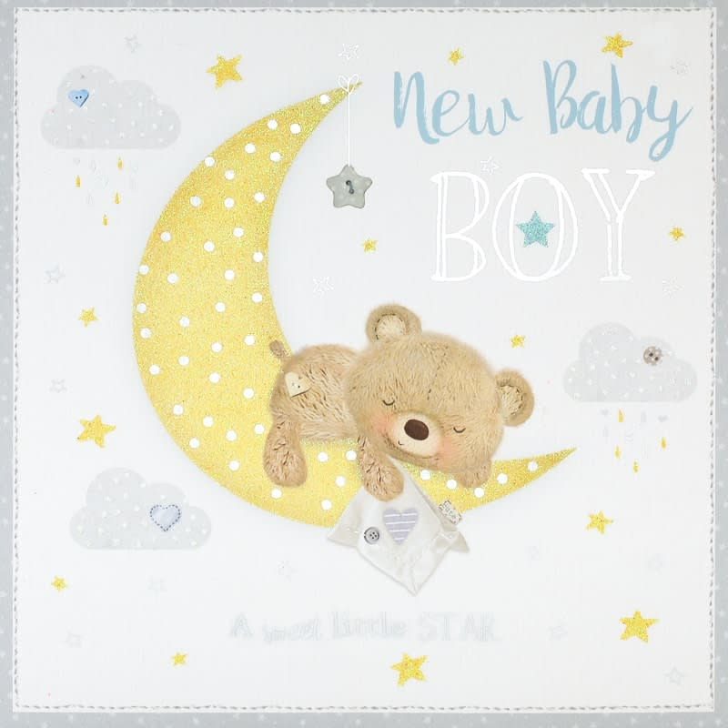 New Baby Boy - New Baby Card