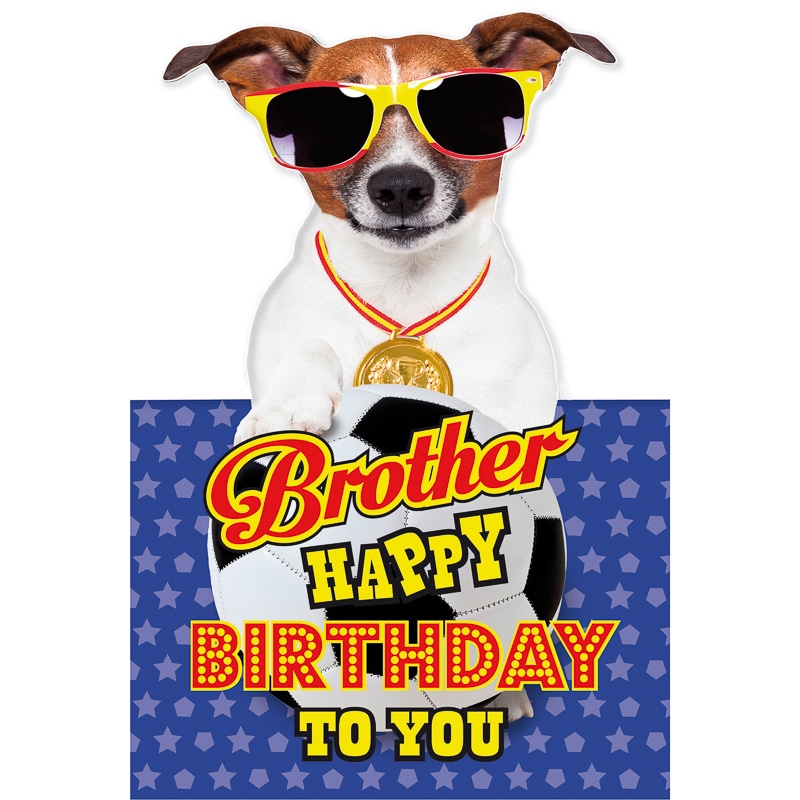 Dog in Sunglasses - Birthday Card