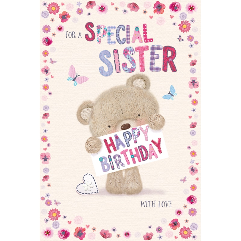 Special Sister Cute Millie Bear Birthday Card Cards