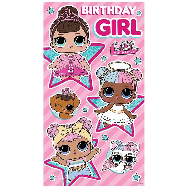 L.O.L. Surprise! Birthday Card