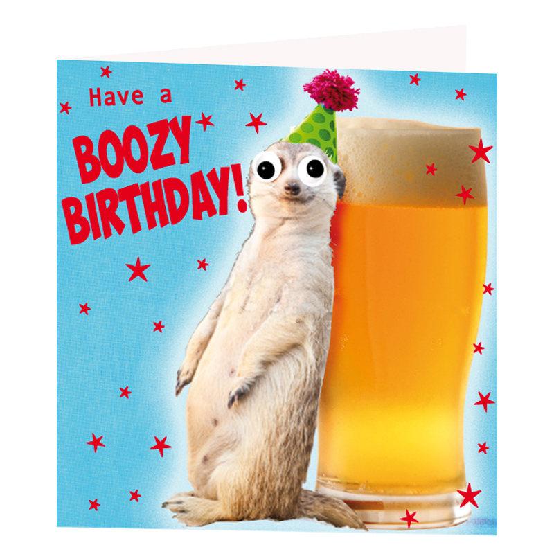 Boozy Birthday Card Greeting Cards