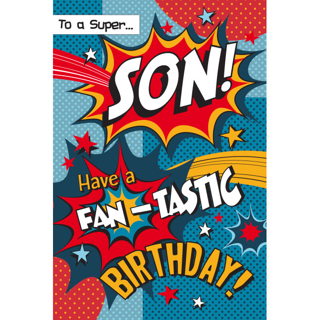 To A Super Son Happy Birthday Greeting Cards B Amp M