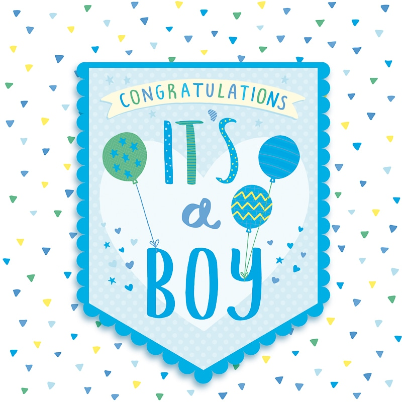 it u0026 39 s a boy - baby card