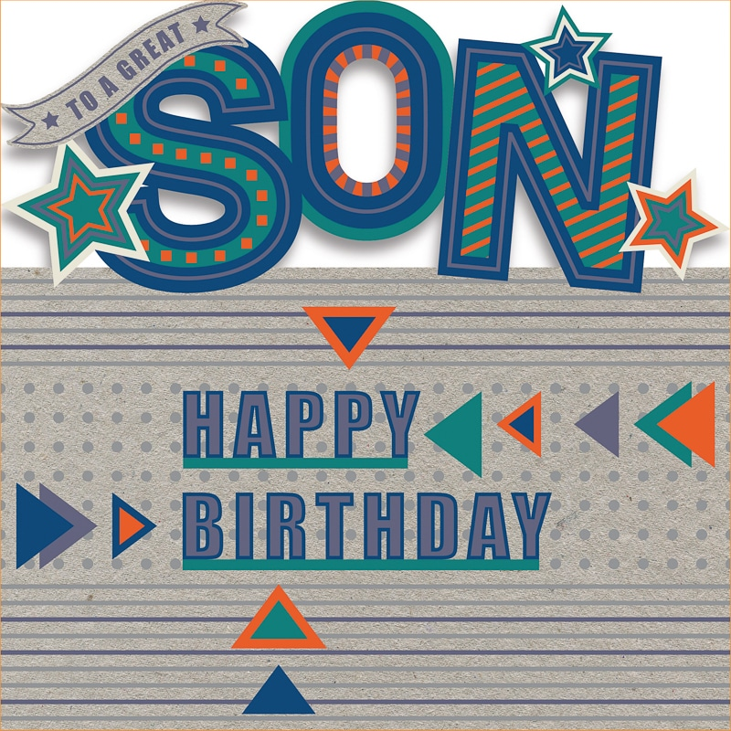 301170 Son Birthday Contemp Die Cut Letters