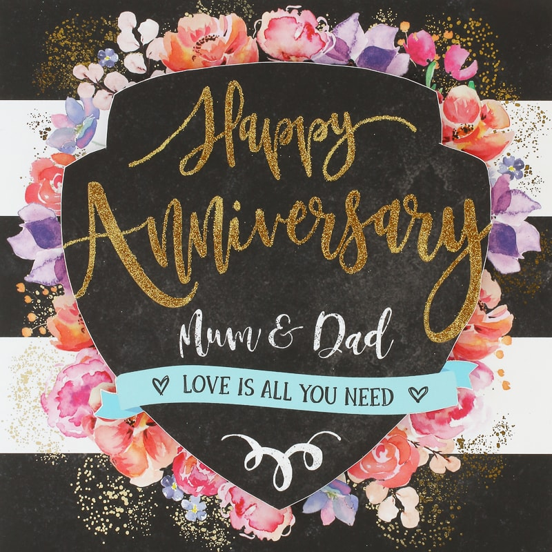Mum Dad Anniversary Card Greeting Cards Bm