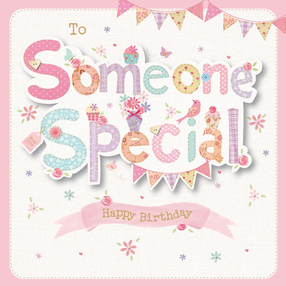 To Someone Special Birthday Card – Birthday Card for Someone Special