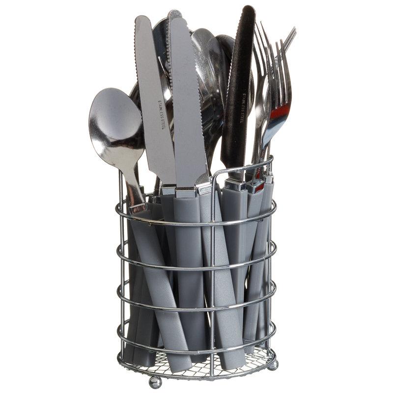 cutlery set holder 16pc kitchen tableware b m. Black Bedroom Furniture Sets. Home Design Ideas