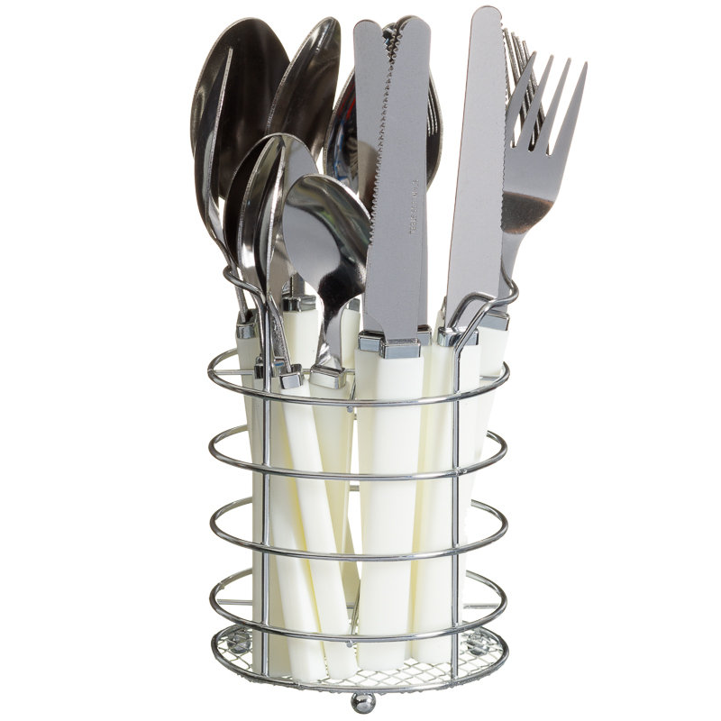 Cutlery Set Amp Holder 16pc Kitchen Tableware B Amp M