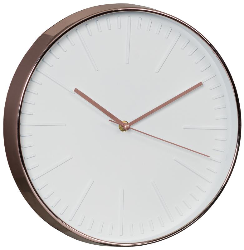 copper wall clock home decor home accessories. Black Bedroom Furniture Sets. Home Design Ideas